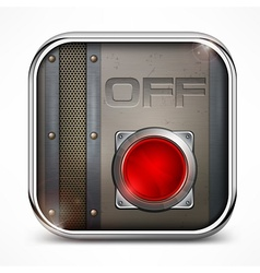 Off switch button vector image vector image
