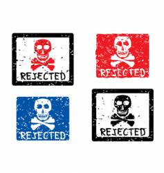 REJECTED grunge stamp vector image vector image