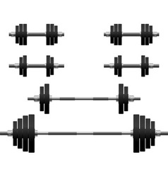 set of weights second variant vector image vector image