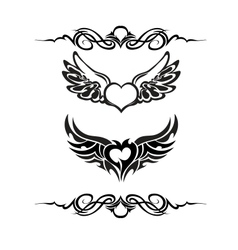 Tribal tattoo set vector