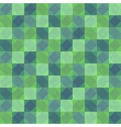 Green seamless background with squares and rhombes vector image vector image