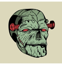 It is a zombie head vector image