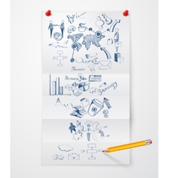 Business doodle paper sheet vector image vector image
