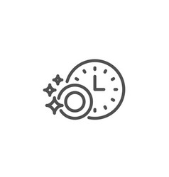 cleaning dishes line icon dishwasher sign vector image