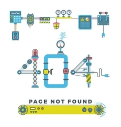 Page not found error 404 concept with vector image vector image
