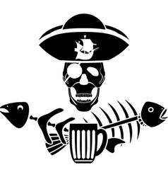 Piracy tavern symbol vector image vector image