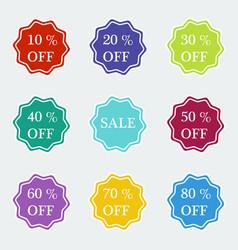 sale symbol special offer label vector image