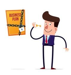 secret business plan vector image vector image