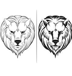 Sketch of Lion Head vector image vector image
