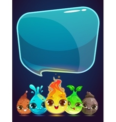 Vertical banner with little cute monsters vector image vector image