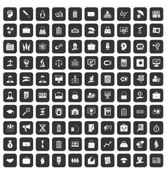 100 portfolio icons set black vector