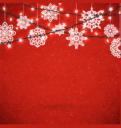 background for merry christmas poster with paper vector image
