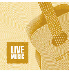 Banner for live music with guitar vector