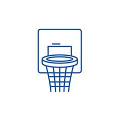 basketball basket line icon concept basketball vector image
