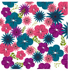 beauty flower background decoration vector image