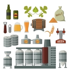 Beer production set vector image
