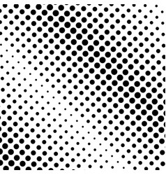 Black and white halftone pattern modern texture vector