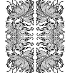 Black and white psychedelic shamanic ornament vector