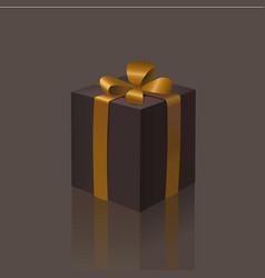 black friday gift box with a gold ribbon bow vector image