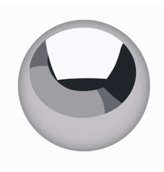 black metallic sphere steel ball isolated vector image