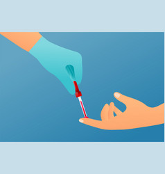 blood test colorful concept vector image