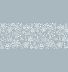 blue christmas card with white snowflakes eps10 vector image