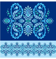 Blue ottoman serial patterns eighteen vector