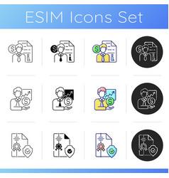 Brokerage service icons set vector