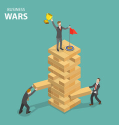 Business war flat isometric concept vector