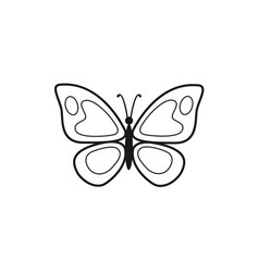 butterfly outline icon vector image