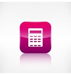 Calculator web icon Application button vector image