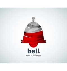 Christmas bell logo template vector image