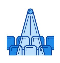 cinema hall line icon vector image