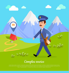 Complex service to any part of the world vector