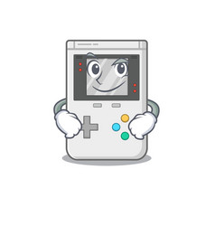 Cool handheld game scroll mascot character with vector