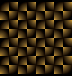 creative square golden black gradient pattern vector image