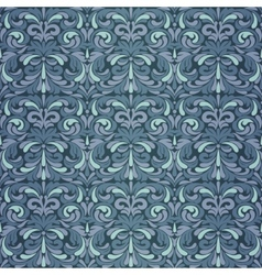 Dark blue baroque pattern vector image