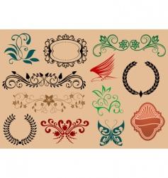 decorative symbols vector image