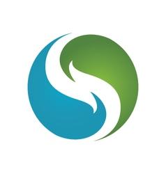 Eco Leaf Logo vector