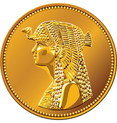 Egypt fifty piastres coin vector