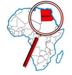 Egypt under a magnifying glass vector