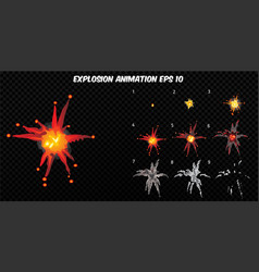 explode explode effect animation vector image