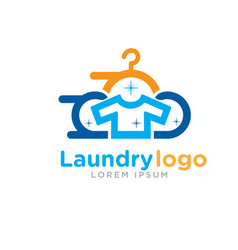 fast laundry logo designs vector image