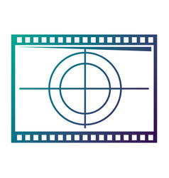 film movie countdown frame retro cinema vector image