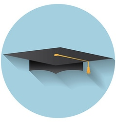 Flat design modern of graduation cap icon vector