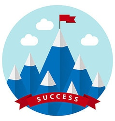 Flat design with success symbol vector