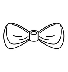 gentleman bow tie icon outline style vector image