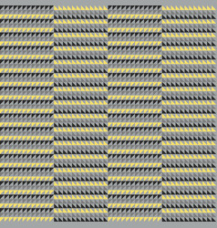 geometric seamless patterns in gray and yellow vector image