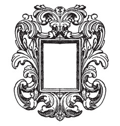 German mirror-frame is mirror surrounded by vector