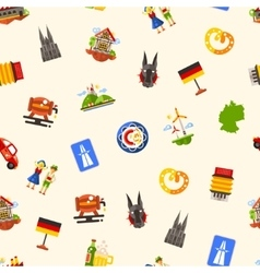 Germany travel seamless pattern with famous German vector